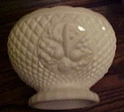 Westmoreland milk glass fruit bowl diamond with fruit
