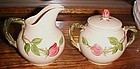 OLD Franciscan Desert Rose Creamer and Sugar 1941-47