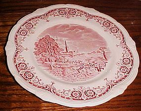 Grindley pink transfer After the Constable Dinner plate