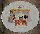 Disney Mickey Minnie and Santa oval Christmas platter