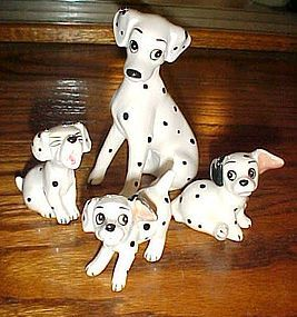 Walt Disney 101 Dalmations figurine set