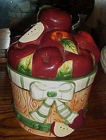 Basket of Apples  ceramic cookie jar