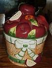 Basket of Apples  ceramic cookie jar