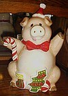 Mervyns Christmas Pig cookie jar