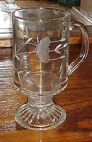 Princess House Crystal Heritage Irish coffee mug