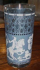 Hazel Atlas  blue and white Arabian Knights tumbler