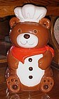B & D chef teddy bear cookie jar