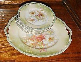 Antique RS Germany Floral cake dessert set