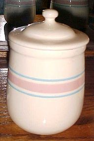 USA Early Farm McCoy small canister pink n blue stripe