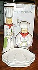 Chefs oil and vinegar dipping set in box Cape Craftsmen
