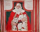 Uncut Christmas Craft Apron panel  Santa and animals