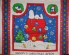 Crafters preprinted (c) Snoopys Christmas Apron Panel