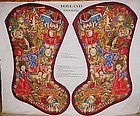"ChristmasToyland stocking preprinted panel huge 35"" tal"