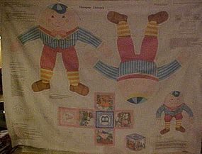 Humpty Dumpty doll sewing craft preprinted fabric panel