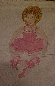 "Pre-printed crafters sewing panel  23"" Ballerina doll"