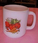 Vintage GlasBake vegetable motif mug