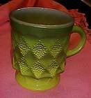 Fire King Kimberly green fade mug