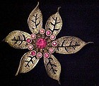 Sarah Coventry Fashion Flower pin brooch 1960's