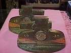 1930 Stanford University hammered Bronze  bookends