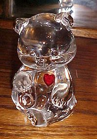 Fenton Birthstone Bear March with ruby heart