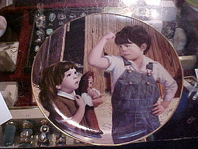 Her Hero Jim Daly collector plate Danbury Mint
