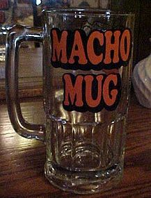 Vintage Ziggy Macho beer Mug 32 ounce
