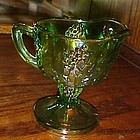 Indiana Harvest creamer lime green carnival glass