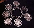 Vintage costume chunky coin bracelet
