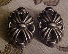 Vintage Ballou silver clip earrings