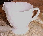 Anchor Hocking Fire King bubble milk glass creamer