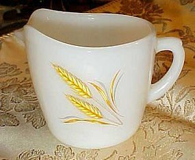Anchor Hocking Fire King oven safe wheat creamer