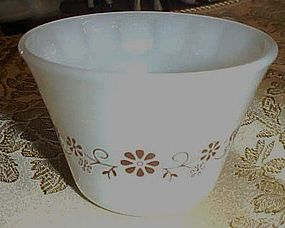 Vintage Dynaware brown daisy custard cup