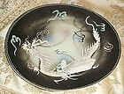 Vintage TMK  grey and black Dragonware plate 7.5 in