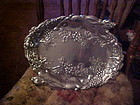 Arthur Court signed oval platter Grapes and rabbits
