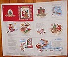 Uncut Cranston fabric panel Night before Christmas book