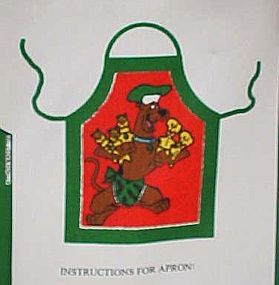 Scooby-doo Christmas apron Uncut craft sewing Panel