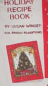 Uncut sewing craft preprinted panel Holiday recipe book