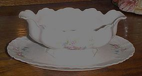 Antique Facon  Bavaria Germany gravy boat  floral spray