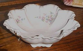 Antique facon H  Bavaria floral vegetable bowl