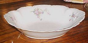 Antique Facon H Bavaria Germany oval floral veg bowl