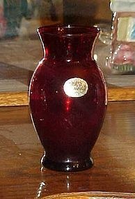 Vintage Anchor Hocking Royal Ruby  Coolidge vase