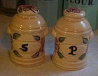 Metlox hand painted milk can range shakers