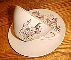 Wellsville China Swingware cup and saucer Western theme