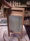Antique Crystal salesman sample glass washboard