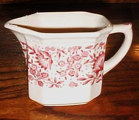 Syracuse red Roxbury creamer Railroad china Econo-rim