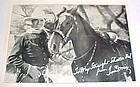 Tom Mix & Tony horse 5x7 Ralston  fan photo 1920's