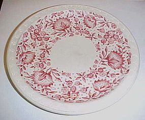 Syracuse red Roxbury bread plate Railroad china 6.5""