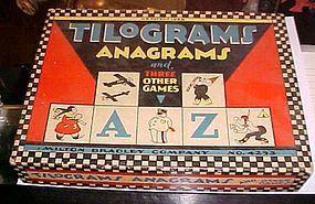 Vintage 1928 Milton Bradley Tilograms Anagrams Game
