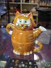 Gantz tea for one Bella Casa tabby cat teapot J. Sumner