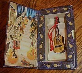Elvis Presley mini Graceland replica guitar ornament